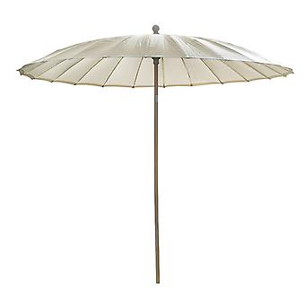 Beach7   Shanghai parasol rond Spunacrylic doek    Houtkleur/Naturel   parasols