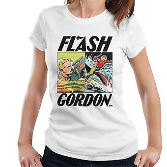 Flash Gordon Action Comic Montage Women's T-Shirt