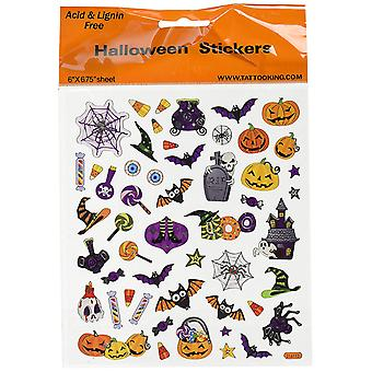 Multicolored Stickers - Halloween Icons - Party Bag Cardmaking Scrapbooking