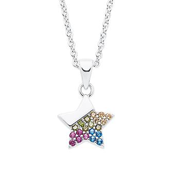 s.Oliver Jewel Kids and Teens Necklace Silver Star Colorful 2026047