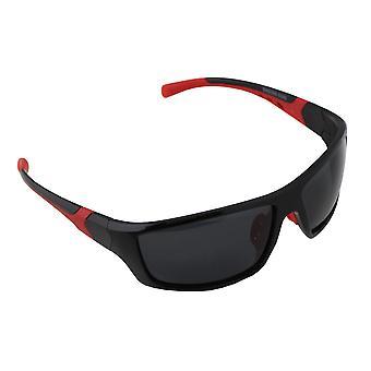 Sonnenbrille UV 400 Sport Rechteck Polarisieren Glas rot schwarz S366_2 FREE BrillenkokerS366_2