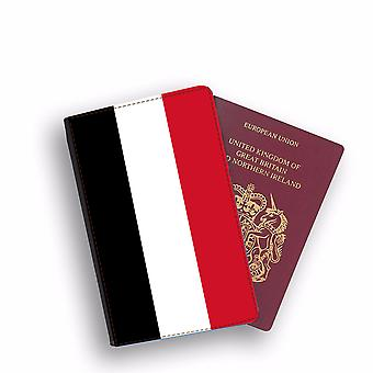 YEMEN Flag Passport Holder Style Case Cover Protective Wallet Flags design