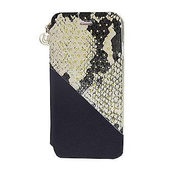 iPhone 6/6s - 4.7 Inch Slash Exotic Beige Snake Folio Hard Shell