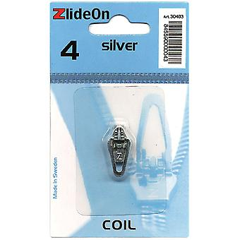 Zlideon Zipper Pull Replacements Coil 4 Silver 3040 3