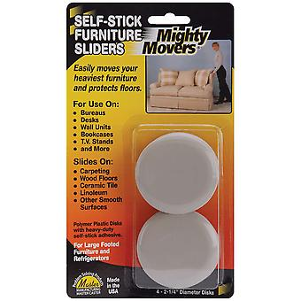 Mighty Movers Self Stick Furniture Sliders 2.25