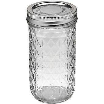 Ball Quilted Crystal Jelly Jar 12 Ounces 81400