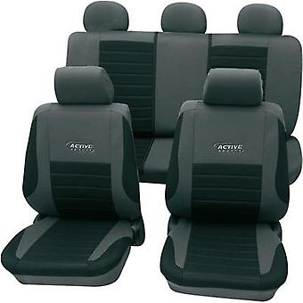 Seat covers 11-piece cartrend 60122 Active Polyester Silver