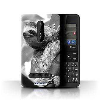 STUFF4 Case/Cover for Nokia Asha 210/Sloth/Mono Zoo Animals