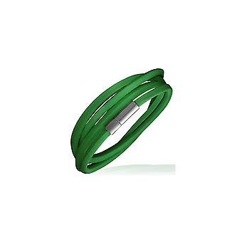 Urban Male Men's Bright Green Leather Cord Style Wrap Bracelet