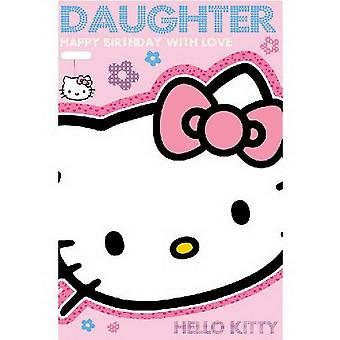 Hello Kitty Birthday card for Daughter with Love