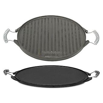 Comgas Cast Iron Reversible Griddle 52 cm. Round griddle.