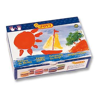 Jovi Box 6 Botes Finger Painting 125 cc