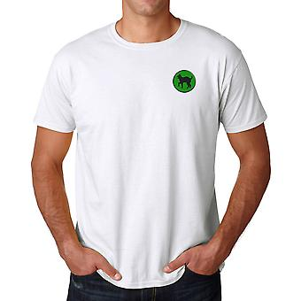 US Army 81st Infantry Division Embroidered Logo - Ringspun Cotton T Shirt