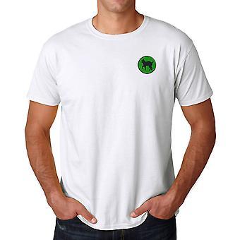 US Army 81: a infanteridivisionen broderad Logo - ringspunnen bomull T Shirt