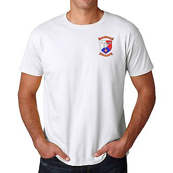 USMC Marines Insignia 1st Bn 25th Marines New England Own Embroidered Logo - Ringspun Cotton T Shirt