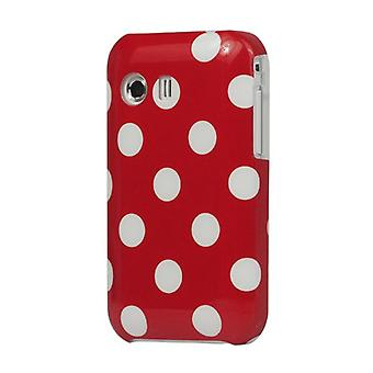 Cover hard case for mobile Samsung Galaxy Y S5360 red / white