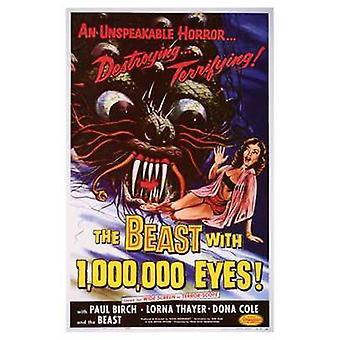 Dyret med 1 000 000 øyne film plakat (11 x 17)