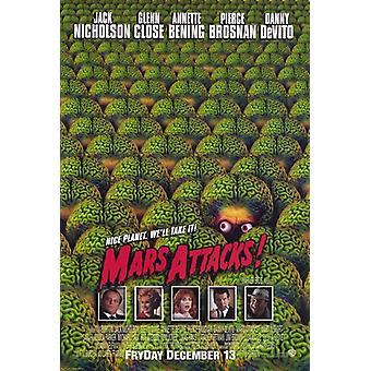 هجمات المريخ ملصق الفيلم (11 × 17)