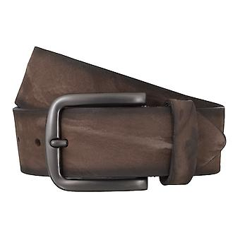 BERND GÖTZ belts men's belts leather belt nubuck Brown 4842
