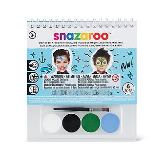 Snazaroo Under the Sea 2 Step A6 Guide Booklet with 4 Face Paints & Brush