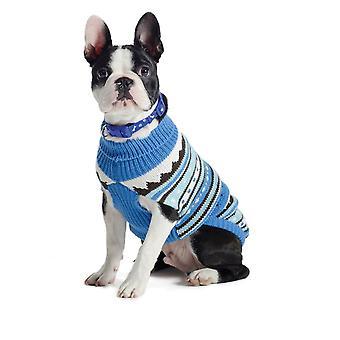Muddy Paws Alpine Sweater Blue Mix Large