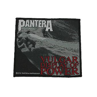 Pantera Vulgar Display Of Power Woven Patch