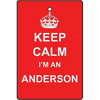 Keep Calm I'm An Anderson Car Air Freshener