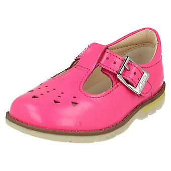 Girls Clarks First T-Bar Shoes Dabi Leila