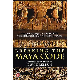 Rompiendo la importación de los E.e.u.u. Código Maya [DVD]