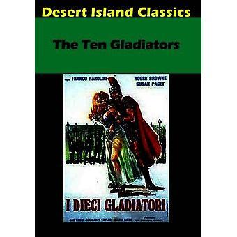 Tien gladiatoren [DVD] USA importeren