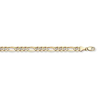 14K Gold Figaro Link Bracelet (5mm)