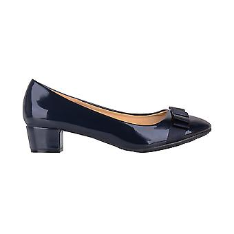 KRISP Bow Toe Low Heel Patent Courts