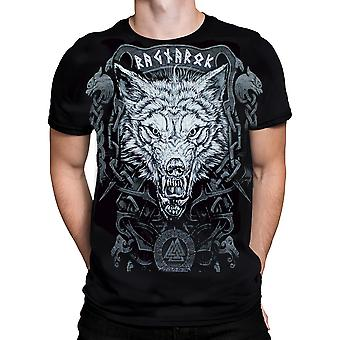 Wild Star Hearts - RAGNAROK WOLF - Mens T-Shirt