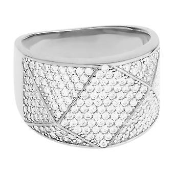 Premium bling - Sterling 925 Silver ring - ANGULAR