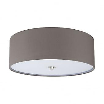 Eglo Pasteri 3 Light Ceiling Light Anthracite/Brown