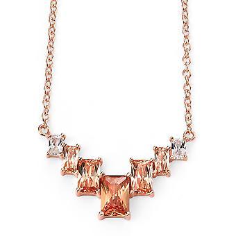 Placcato in oro rosa in argento 925 e zirconio Collana Trend