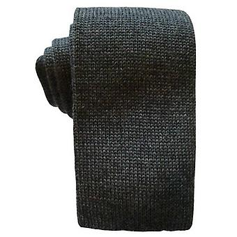 KJ Beckett Plain Wool Tie - Grey