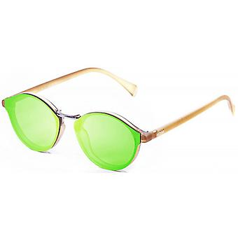 Ocean Loiret Flat Lense Sunglasses - Green/Brown