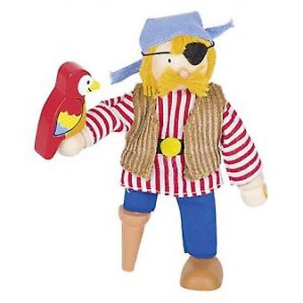 Goki Flexible puppet pirate (Toys , Dolls And Accesories , Miniature Toys , Mini Figures)