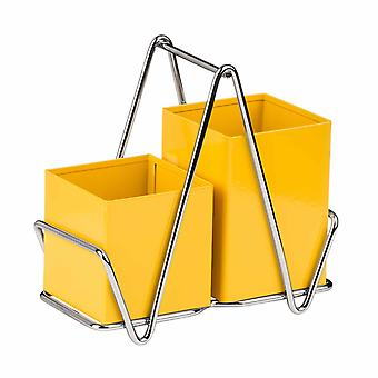 Premier Housewares Cutlery Caddy, Yellow