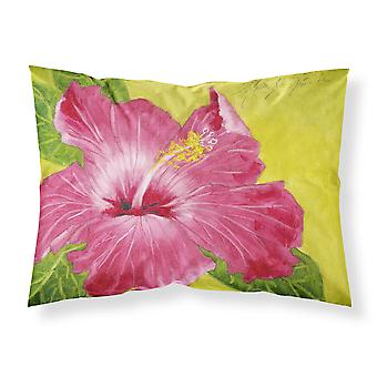 Hot Pink Hibiscus by Malenda Trick Fabric Standard Pillowcase