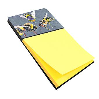 Bee Bees Times Three Refiillable Sticky Note Holder or Postit Note Dispenser