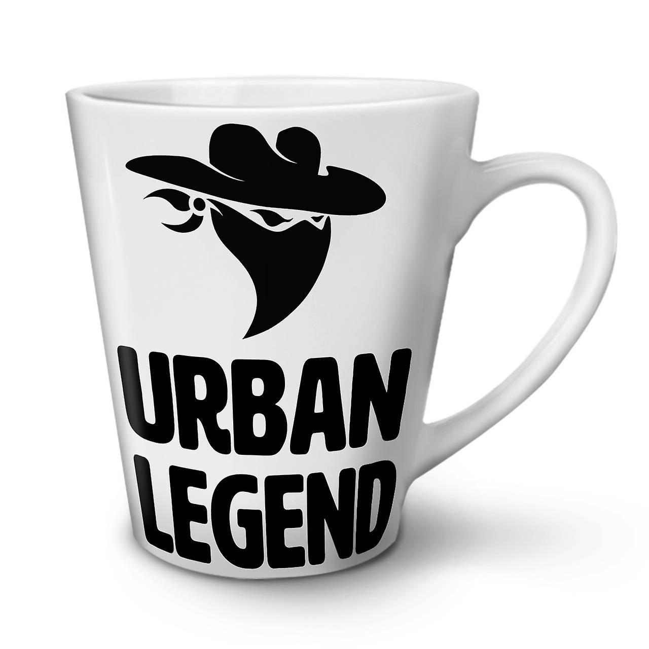 Céramique Blanche OzWellcoda Urbaine Bandit Nouvelle Légende En 12 Café Tasse Latte Yy6bfIgv7