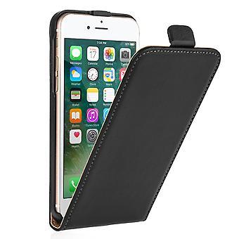Caseflex Iphone 7 Натуральня кожа флип случае - черный