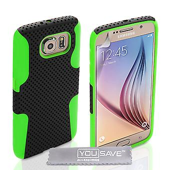 Samsung Galaxy S6 Mesh Combo Gel Case - grön