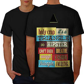 timeless design 2de97 c99e3 Sale Hipster Triangle Funny Men BlackT-shirt Back   Wellcoda