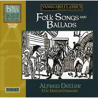 Alfred Deller/the Deller Consort - Folk Songs and Ballads [CD] USA import