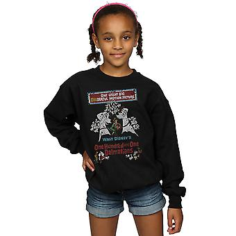 Disney Girls 101 Dalmatians Retro Poster Sweatshirt