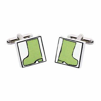 Wellies Cufflinks by Sonia Spencer, in Presentation Gift Box. Wellington Boots