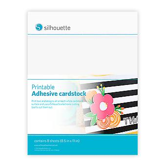 Silhouette Printable Adhesive Cardstock 8.5